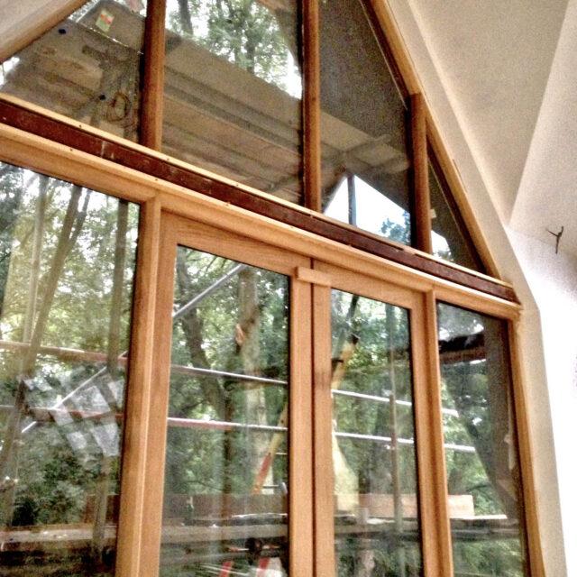 New-timber doorset gable end